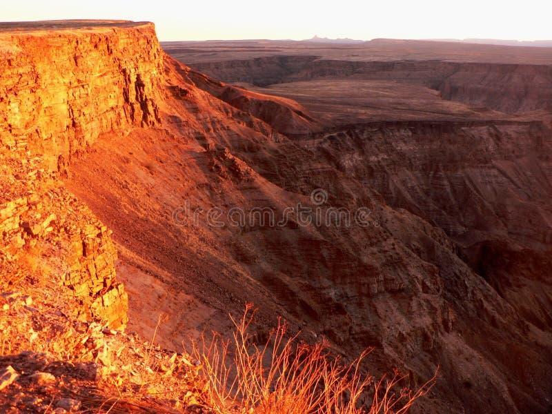 峡谷鱼纳米比亚河 免版税库存照片