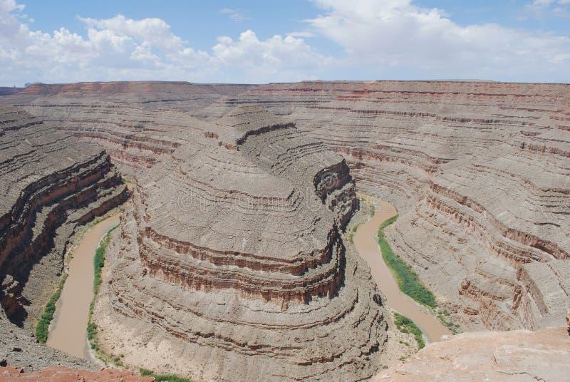 峡谷鹅颈管犹他 库存图片
