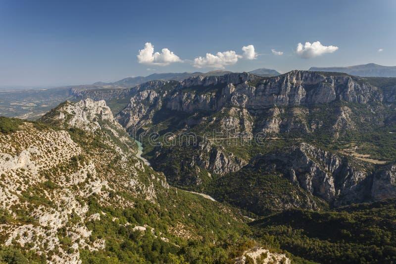峡谷维登(Gorges Du维登)在普罗旺斯,彻特d'Azur, Fr 免版税图库摄影
