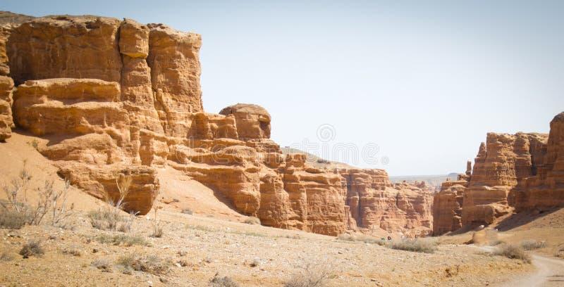 峡谷charyn卡扎克斯坦 城堡谷  免版税库存图片