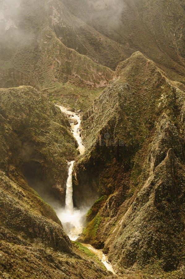 峡谷cotahuasi秘鲁 免版税库存照片