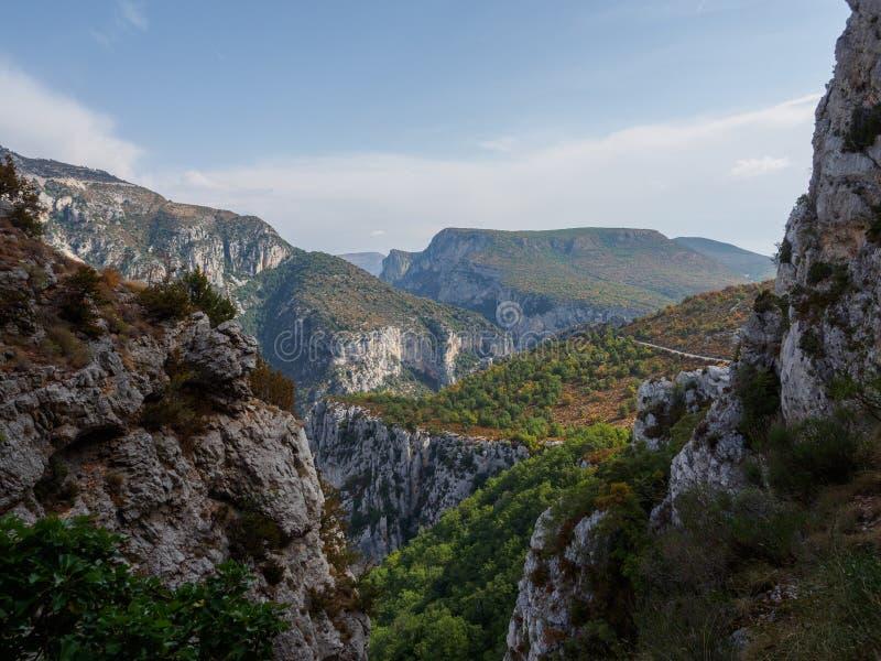峡谷du维登在法国 库存照片