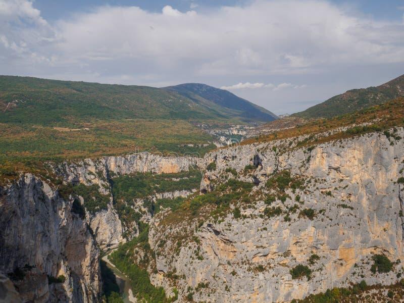 峡谷du维登在法国 免版税图库摄影