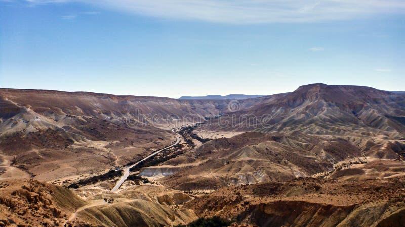 峡谷Ein Avdat在Neqev沙漠 图库摄影