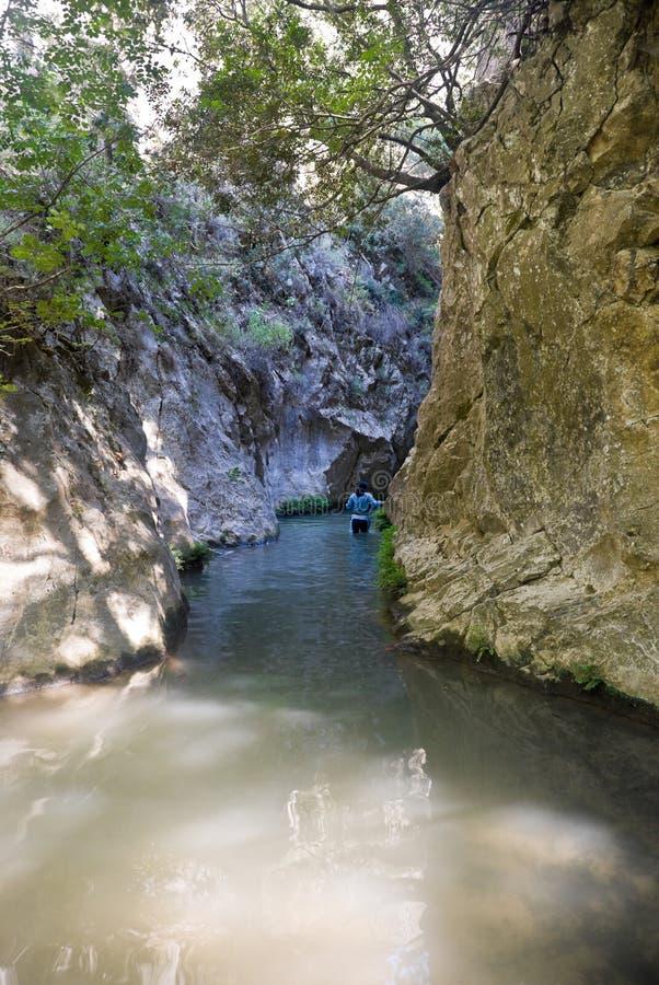 峡谷hicker 库存照片