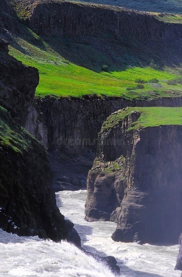 峡谷hvita冰岛 免版税图库摄影