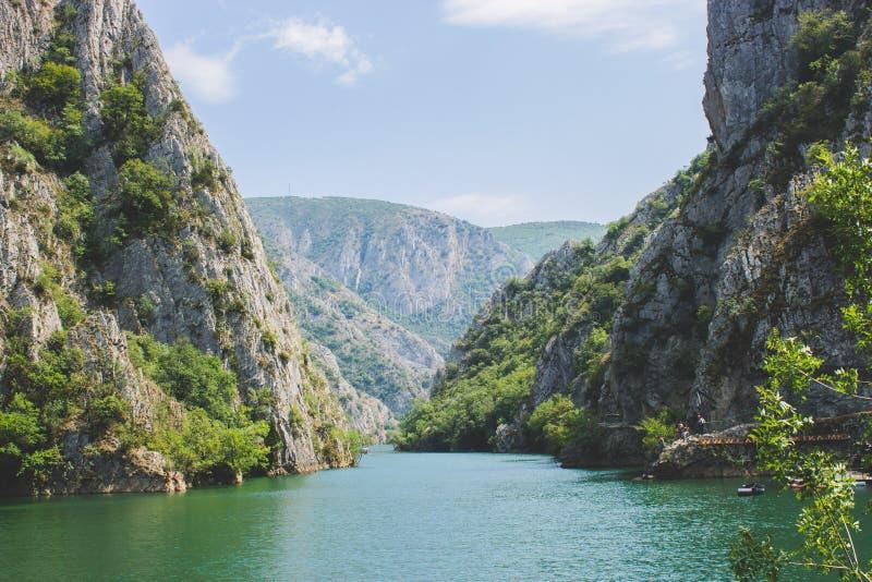 峡谷Matka -斯科普里,马其顿 免版税库存照片