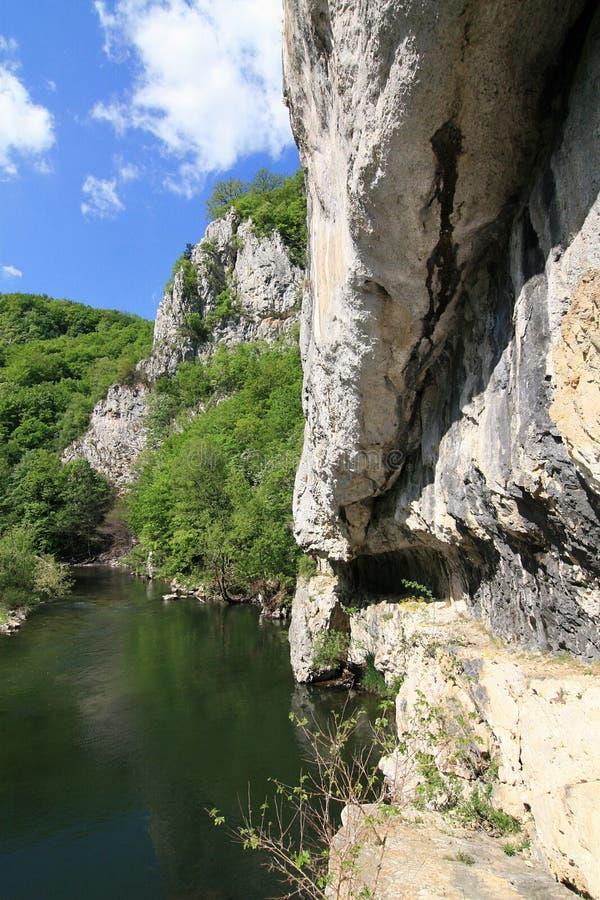 峡谷nera罗马尼亚 库存照片