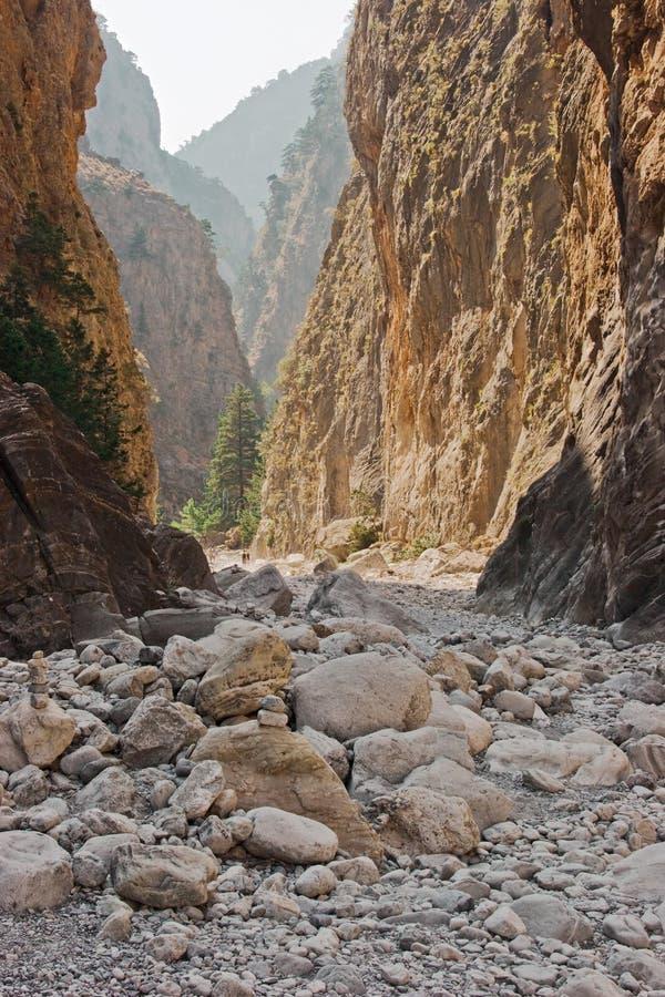 峡谷samaria 免版税库存照片