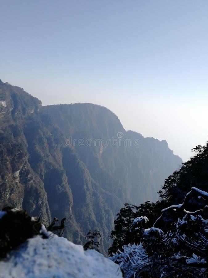 峨眉山,四川,中国冬天秀丽  免版税库存图片