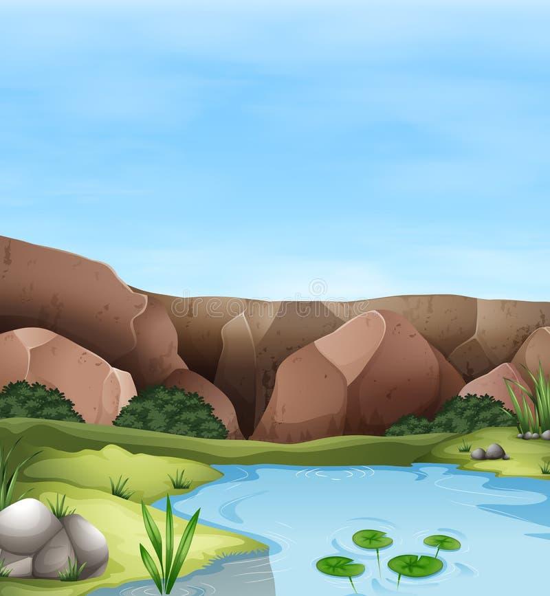 Download 峭壁和池塘场面 向量例证. 插画 包括有 照片, 池塘, 草坪, 环境, 本质, 栖所, 夹子, 横向, 图画 - 59108255