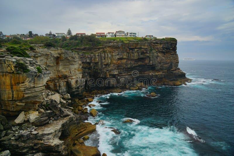 峭壁和海金刚石海湾的在悉尼 免版税图库摄影