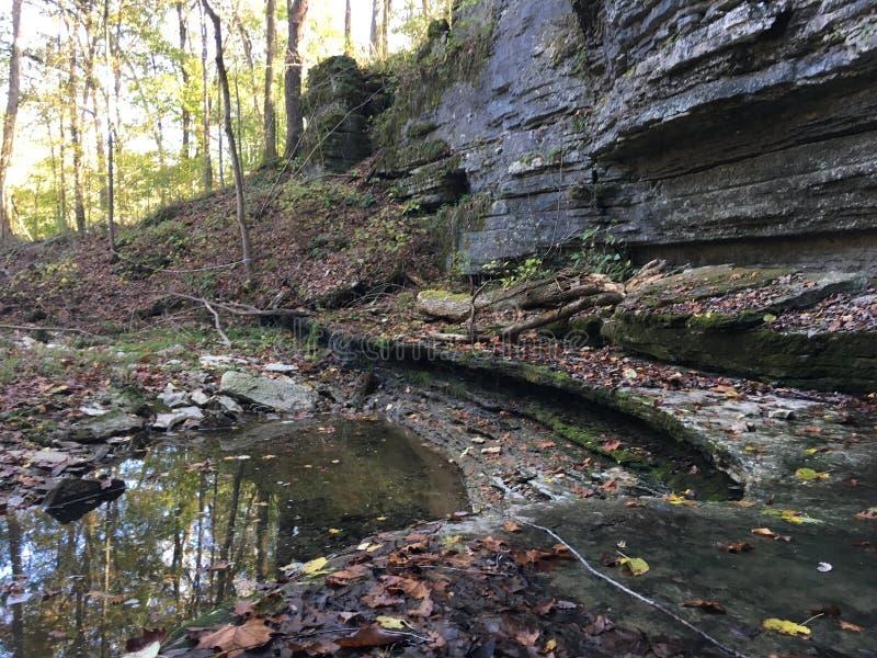 峭壁和水 库存图片
