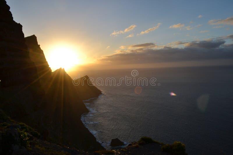 峭壁在大加那利岛 库存图片