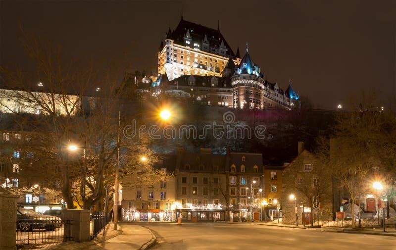 fairmont Le Chateau Frontenac 免版税库存图片