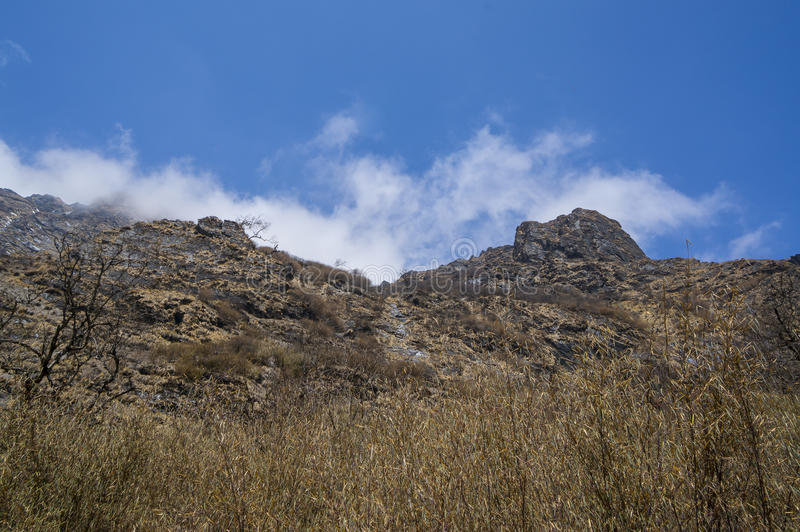 峭壁岩石 免版税库存图片
