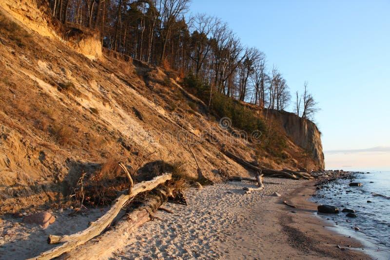 峭壁格丁尼亚波兰沙子 免版税图库摄影