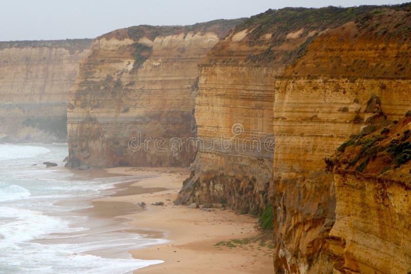 峭壁海岸线 库存照片