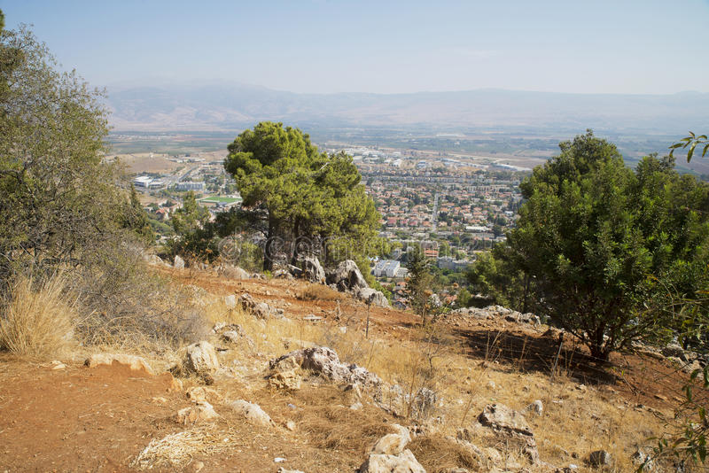 从峭壁的看法在谢莫纳城 图库摄影
