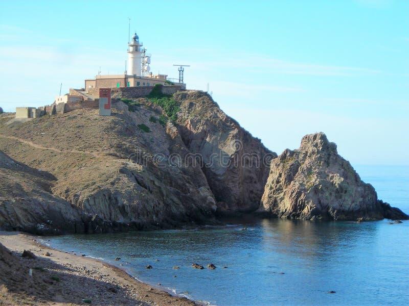 峭壁Cabo de加塔角阿尔梅里雅安大路西亚 免版税图库摄影