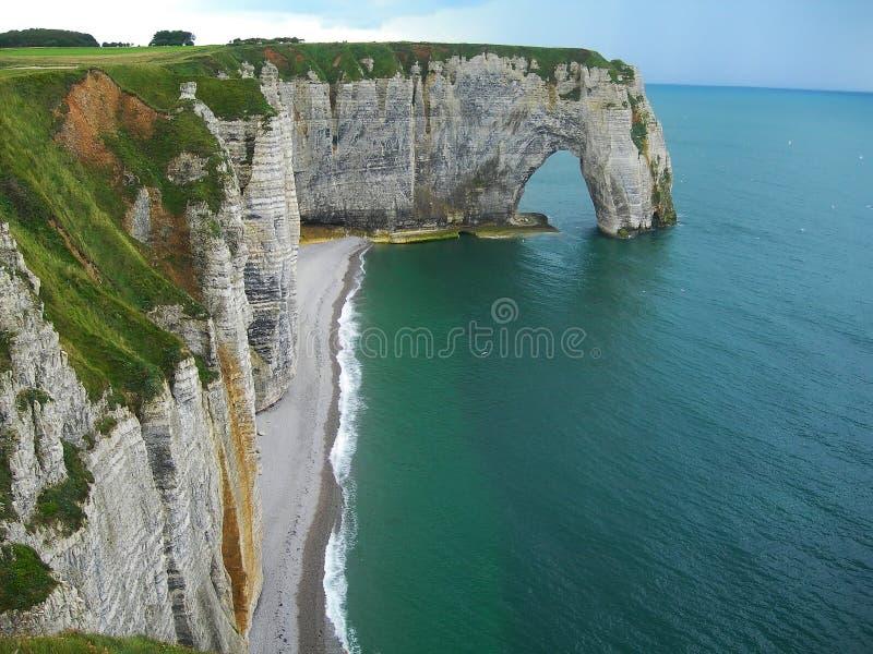 峭壁Cfiffs Etretat法国 库存图片