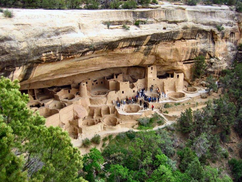 峭壁mesa国家宫殿公园verde 库存图片
