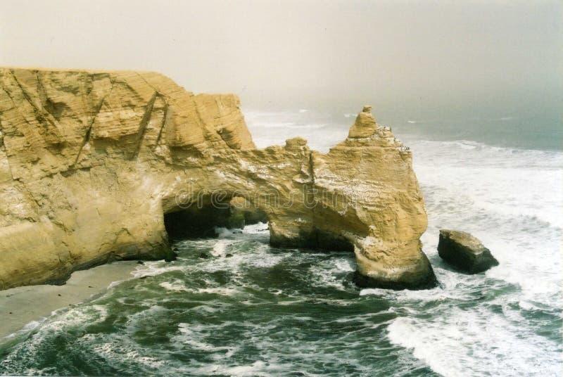峭壁paracas 图库摄影