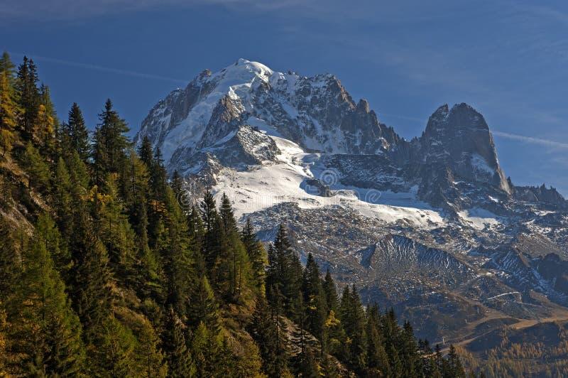 峰顶在法国阿尔卑斯 免版税库存照片