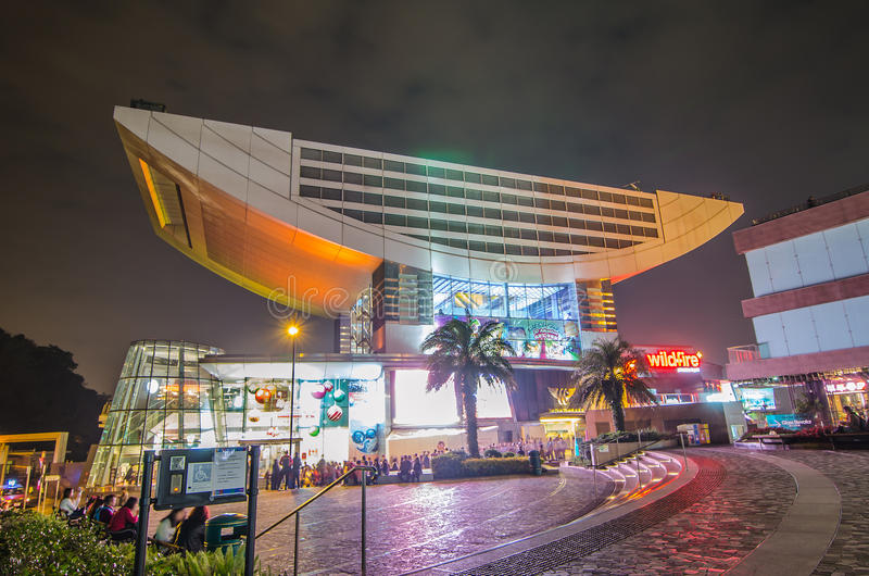 峰顶是最普遍的吸引力在香港,提供城市的宏伟的视图 库存图片