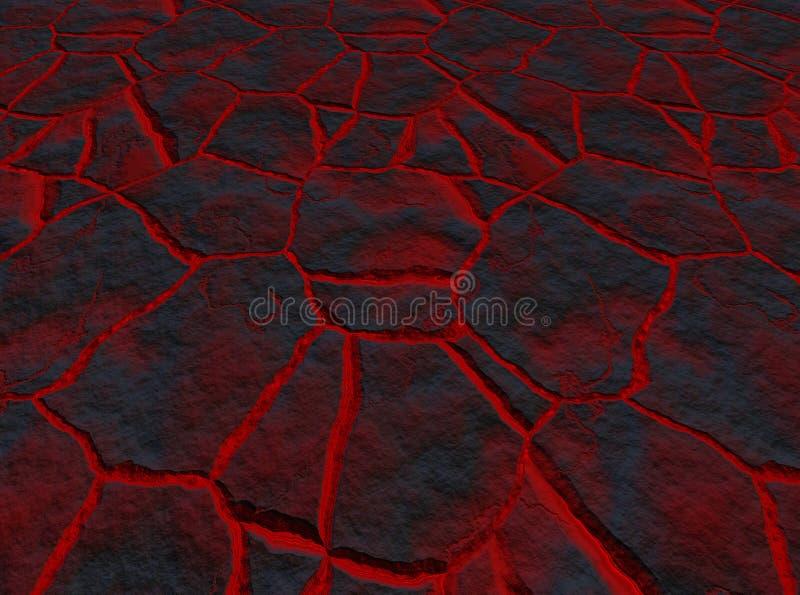 崩裂熔岩 向量例证