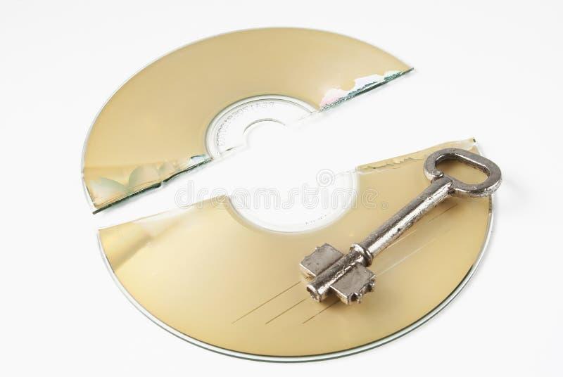 崩裂的cd 库存照片
