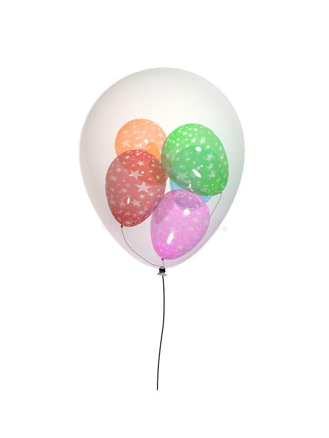 嵌套的气球 免版税库存照片