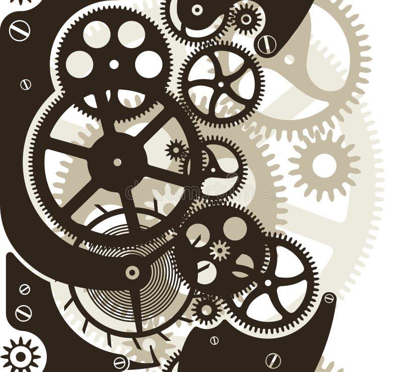 嵌齿轮无缝的轮子 库存例证