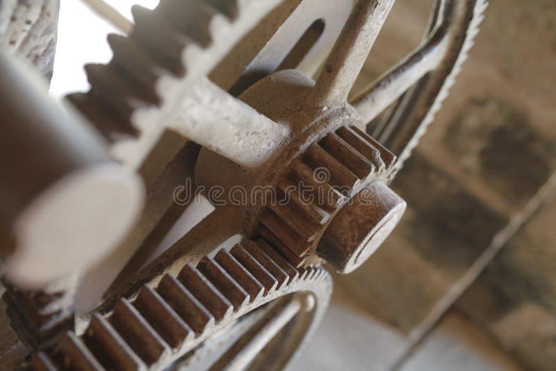 嵌齿轮轮子和蒸汽 免版税库存图片