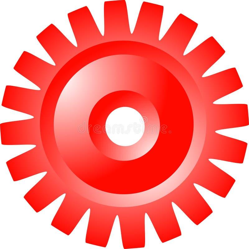 嵌齿轮轮子 库存例证