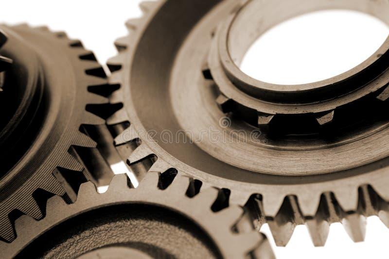 嵌齿轮齿轮金属 免版税库存照片