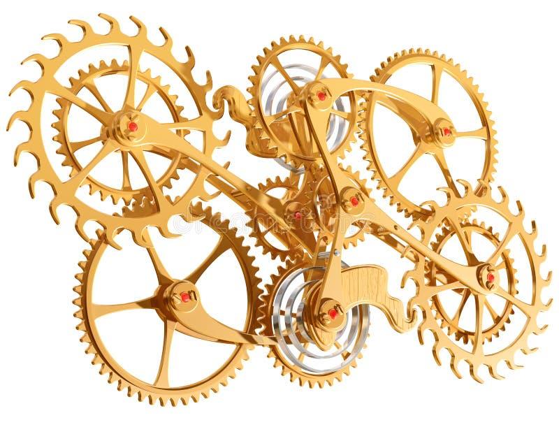 嵌齿轮齿轮 向量例证