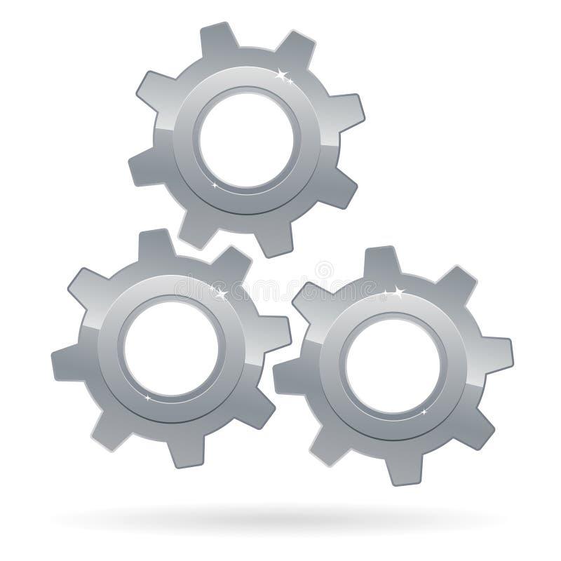 嵌齿轮 库存例证