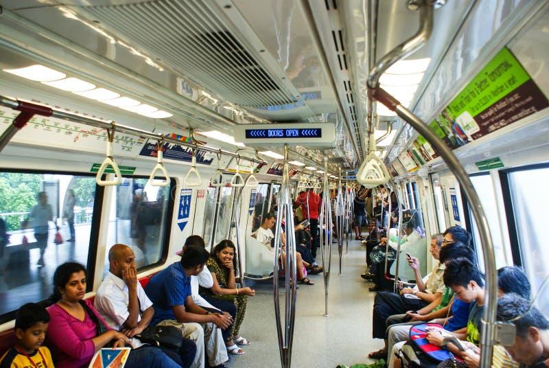 川崎地铁支架内部在新加坡 免版税库存照片