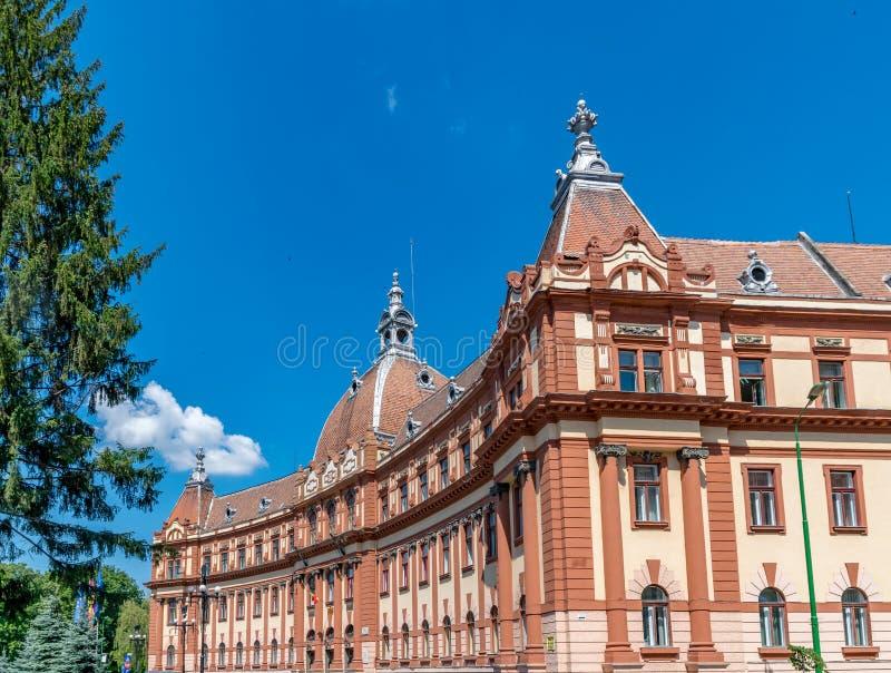 州政府办公楼在布拉索夫,罗马尼亚 库存图片