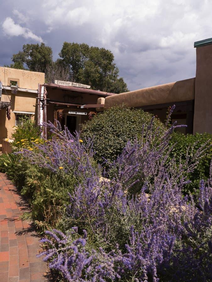 州长倾向议院博物馆在Taos新墨西哥 图库摄影