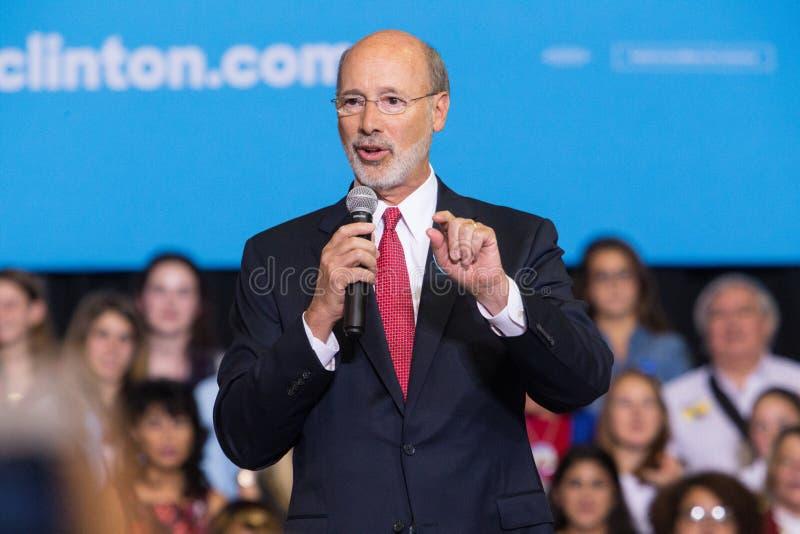 州长狼对克林顿集会的提议评论 库存照片