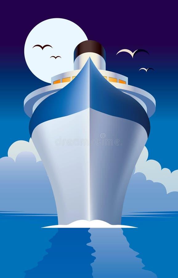 巡航划线员船 库存例证