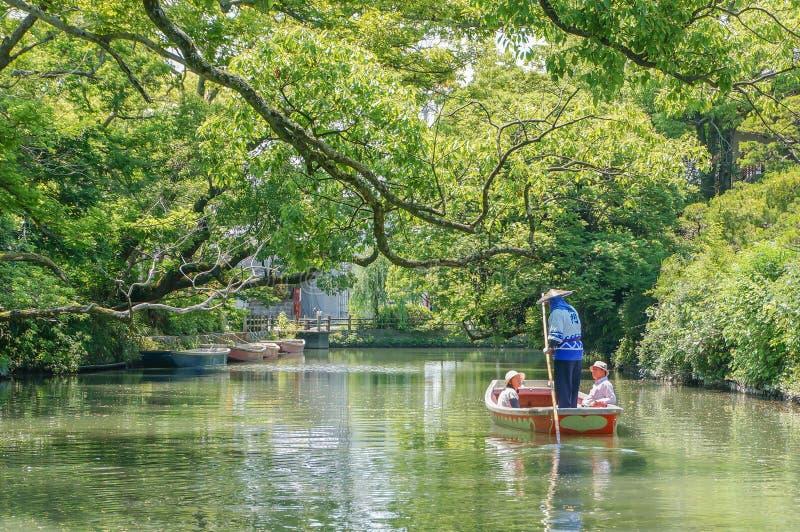 巡航和观光,柳川河 库存照片