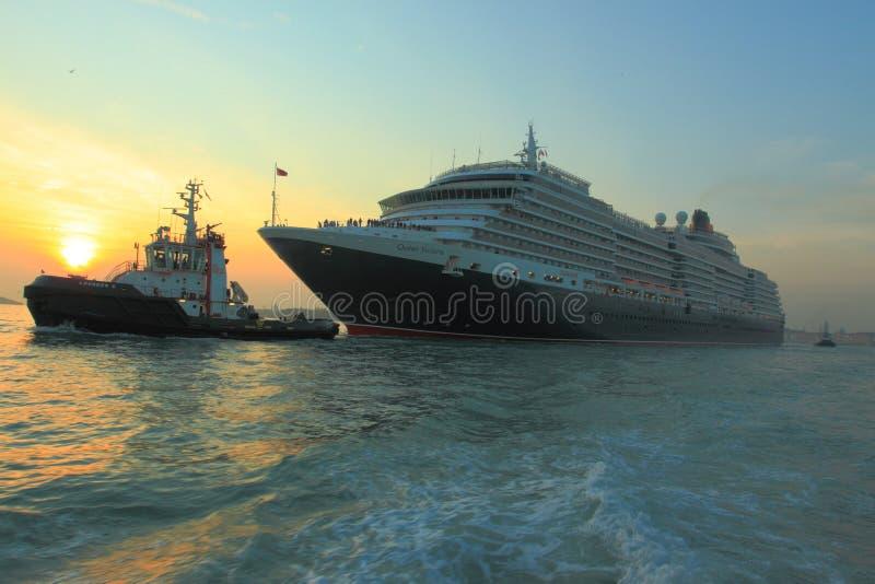 巡航女王/王后船维多利亚 免版税库存照片