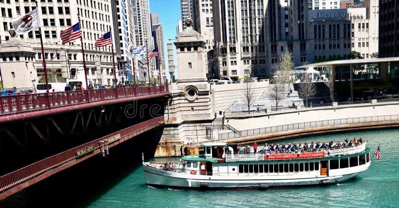 巡航小船Chicago's第一夫人 免版税库存图片