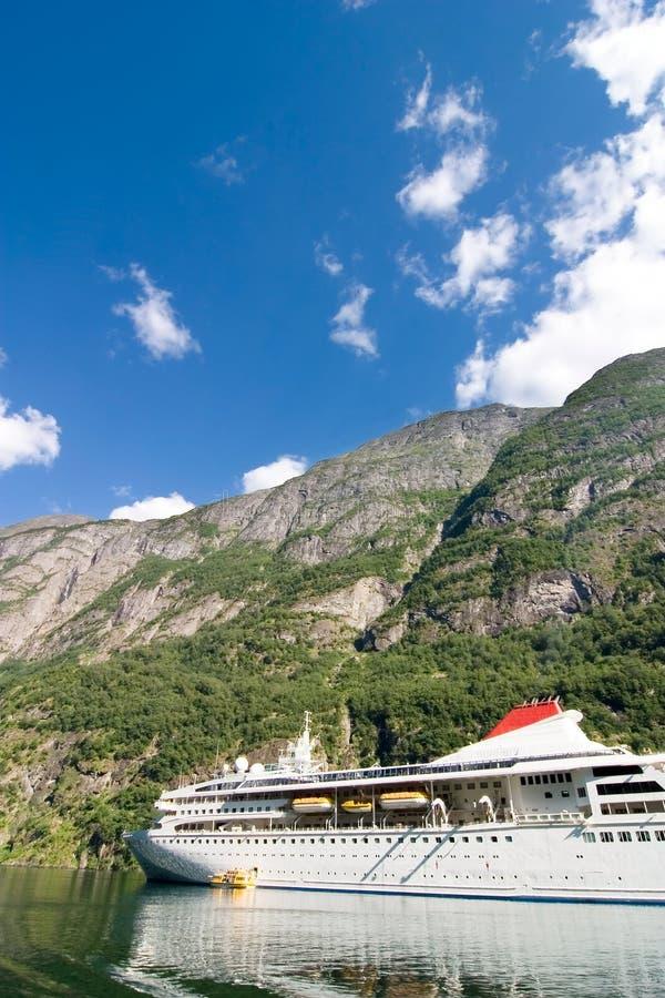 巡航挪威sognefjord 免版税库存图片