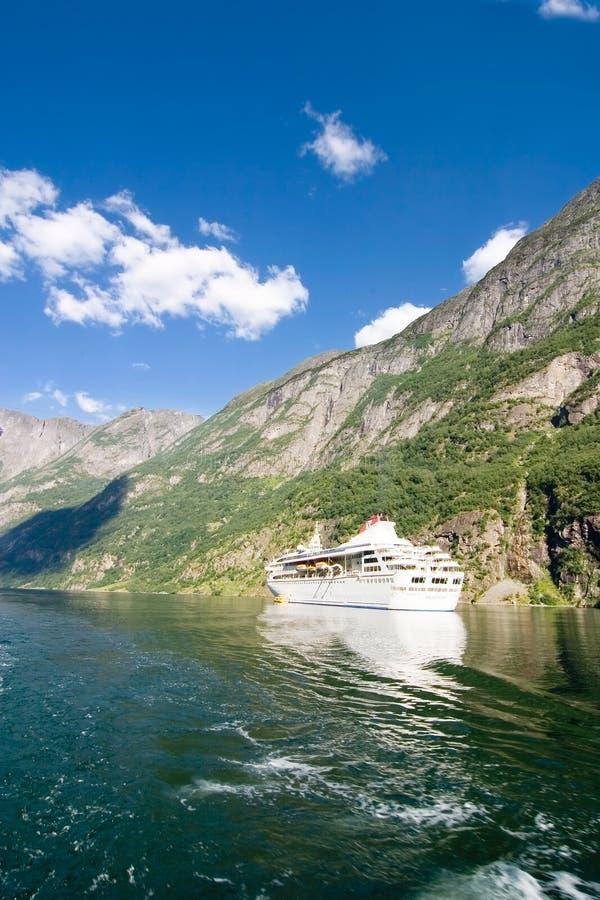 巡航挪威sognefjord 库存照片