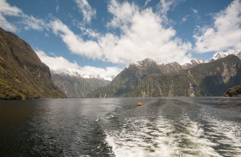 巡航的Milford Sound 库存图片