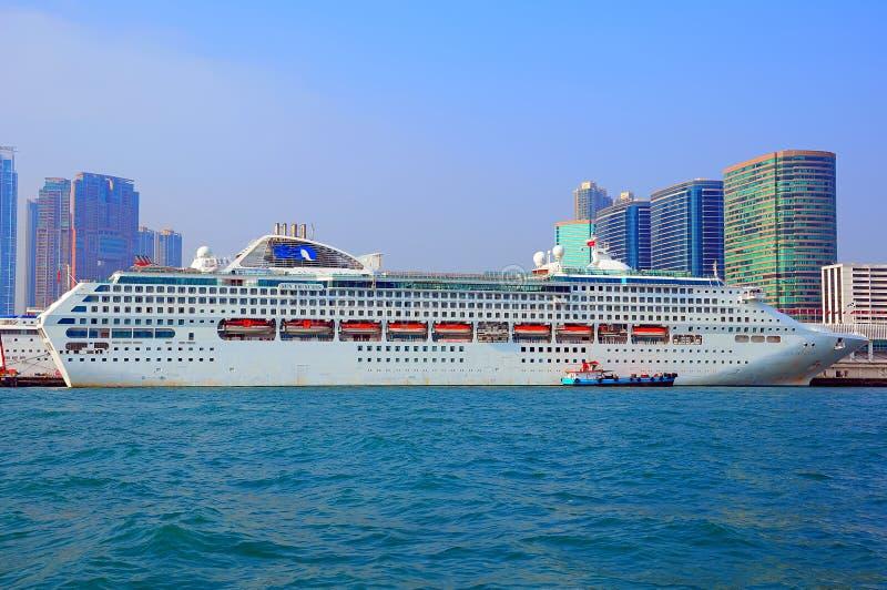 巡航豪华船白色 库存照片